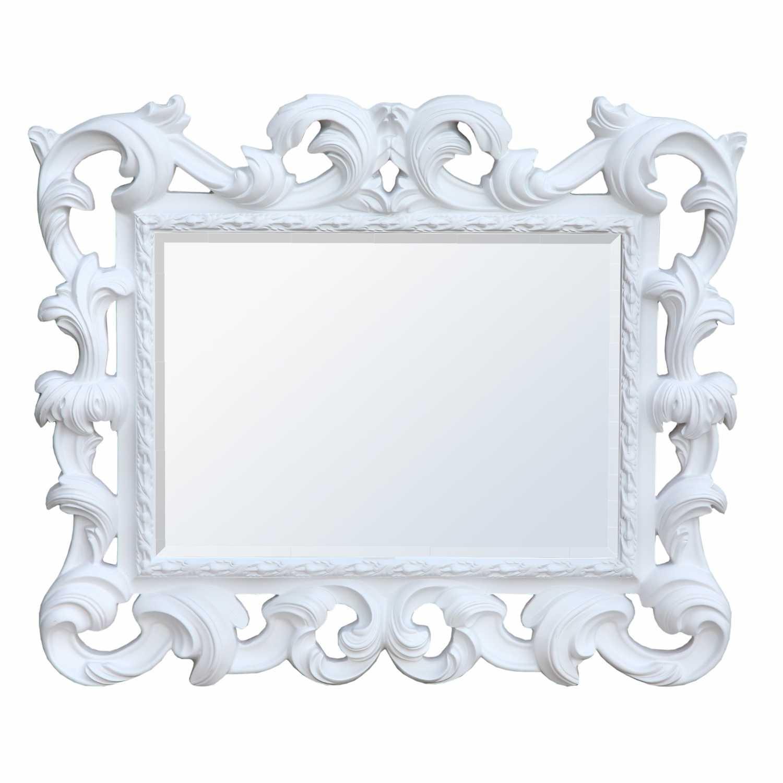 White baroque overmantel mirror for White baroque style mirror