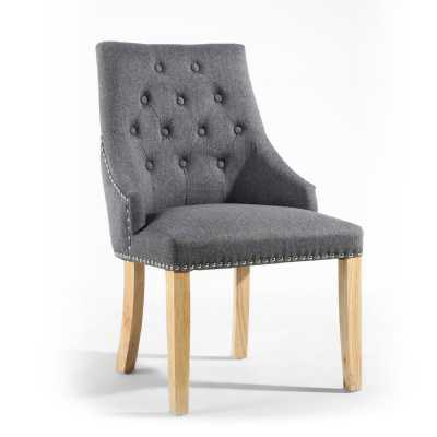 Camberwell Linen Effect Steel Grey Accent Chair