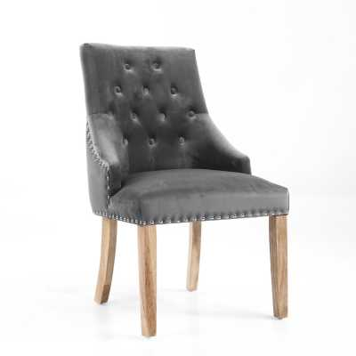 Camberwell Brushed Velvet Grey Accent Chair