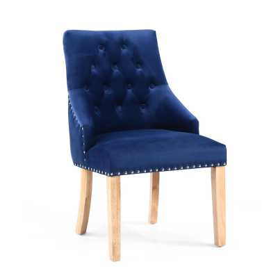 Camberwell Brushed Velvet Ocean Blue Accent Chair
