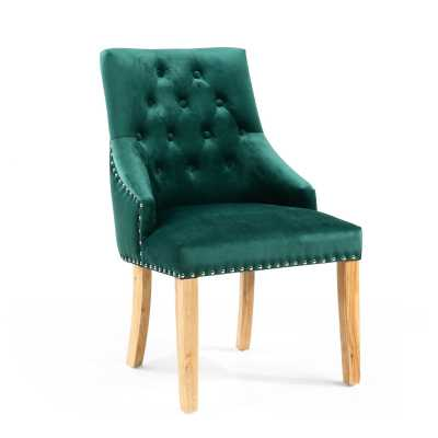 Camberwell Brushed Velvet Green Accent Chair