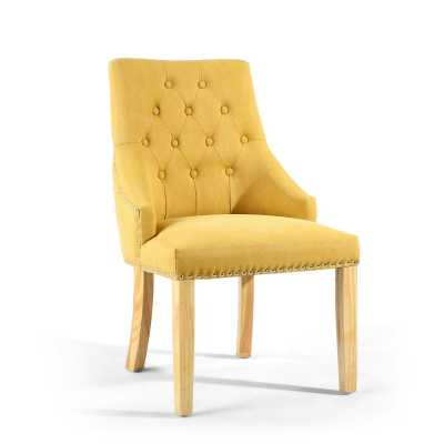 Camberwell Stonewash Effect Yellow Accent Chair