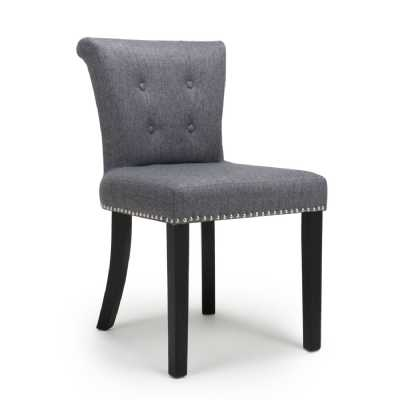 Sandringham Linen Effect Steel Grey Accent Chair