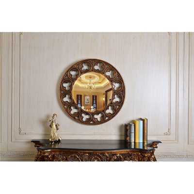 Vintage style Celtic Round Wall Mirror with Gold Gilt Frame