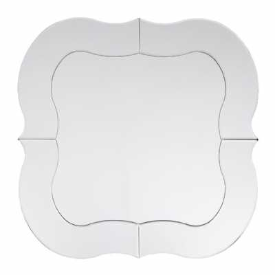 Decorative Shaped Silver Wall Mirror in a Simple Design