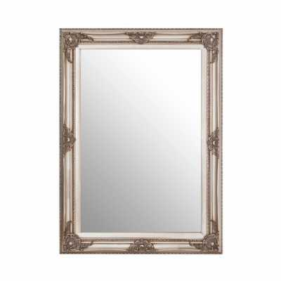 Baroque Rectangular Grey Wall Mirror