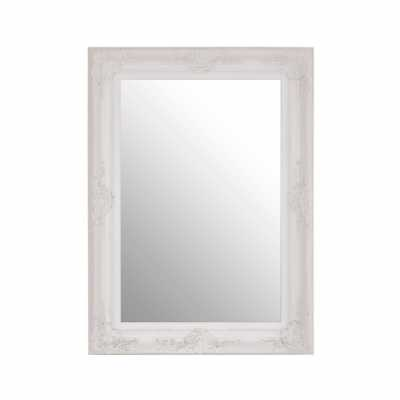 Baroque Rectangular Antique White Wall Mirror