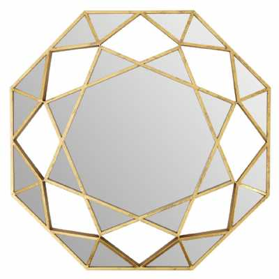 Marcia Faceted Octagonal Wall Mirror