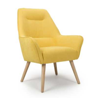 Pacific Sunny Yellow Accent Chair