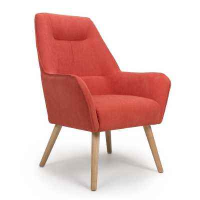 Pacific Brick Orange Accent Chair