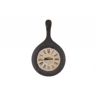Vintage Style Clocks and Accessories Iron Kadai Themed Wall Clock With Roman Numerals 56 x 5cm