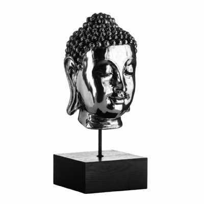 Pair of Buddha Heads on Stand