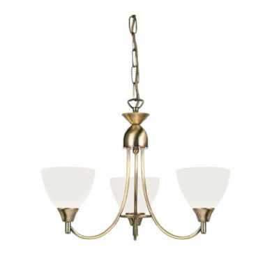 3 Pendant Light Antique Brass