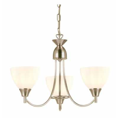 3 Pendant Light Satin Chrome