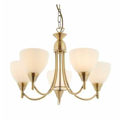 5 Pendant Light Antique Brass