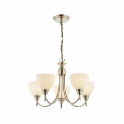 5 Pendant Light Satin Chrome