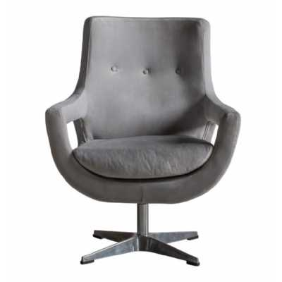 Swivel Chair Grey Velvet