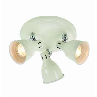 3 Round Ceiling Light Ivory Gloss