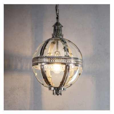Small Round Pendant Light Silver