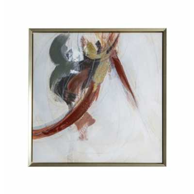 Abstract Framed Canvas