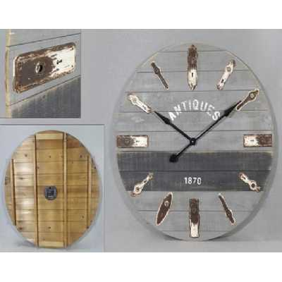 Vintage Clocks And Accessories Antique Lock Plate Round Clock