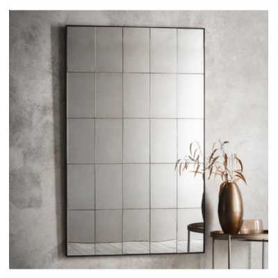 Contemporary Extra Large Tall Rectangular Shaped Antique Mirror Edged Detailing 100 x 30 x 160cm