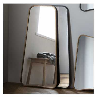 Modern Style Luxurious Finish Gold Leaner Floor Mirror Bevelled Glass 122 x 58.5cm