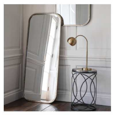 Leaner Extra Large Full Length Carved Mirror Distressed Champagne Finish 157 x 66 x 2cm