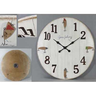 Vintage Clocks And Accessories Gone Fishing Round Clock