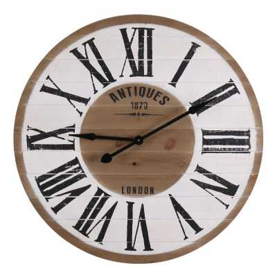 Vintage Clocks And Accessories Round Wooden Clock Antiques 1870 London