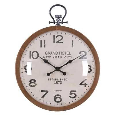 Vintage Clocks And Accessories Grand Hotel New York City Round Clock Gold