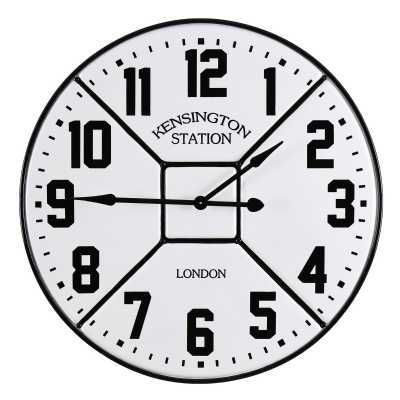 Vintage Clocks And Accessories Kensington Station Round Clock
