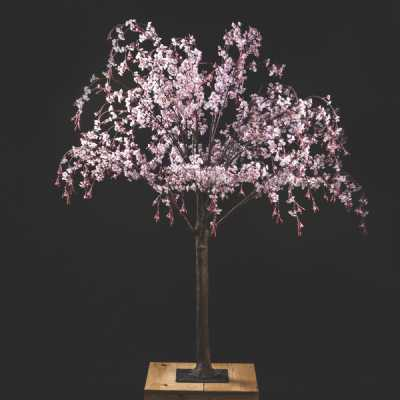 Decorative Artificial Japanese Light Pink Floral Cherry Blossom Tree