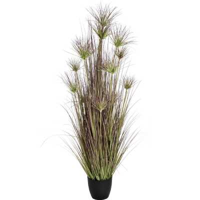 Large Potted Artificial Water Bamboo Grass in Reds And Green 72 Inch