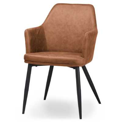 Oslo Carver Tan Dining Chair