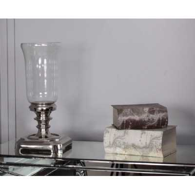 Modern Large Nickel Turno Candle Holder