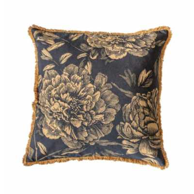 Floral Cushion Gold