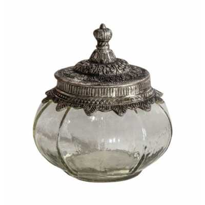 Lidded Jar Small Clear