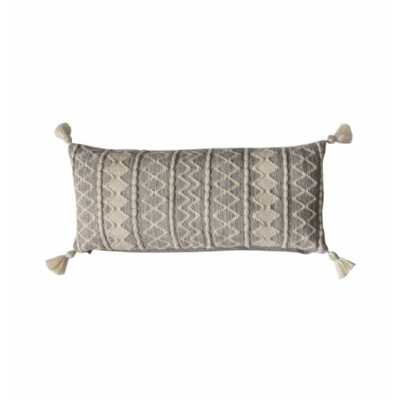 Tassel Cushion Grey