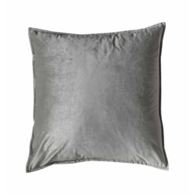 Velvet Oxford Cushion Silver