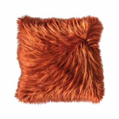 Faux Cushion Burnt Orange