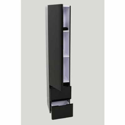 Black High Gloss Painted Finish Largo Floor Standing Storage Cabinet