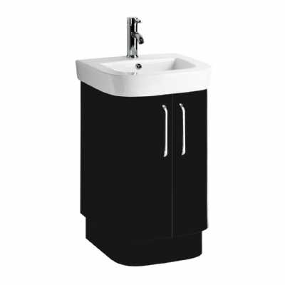 Seattle Black High Gloss Under Basin Cabinet