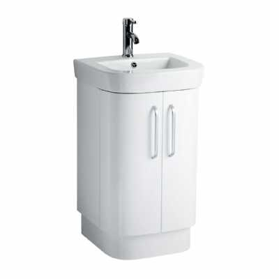 Seattle White High Gloss Under Basin Cabinet