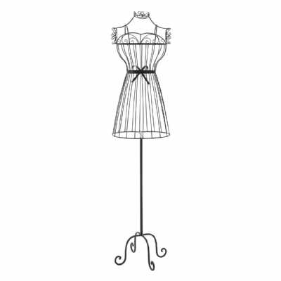 Decorative Black Wire Framed Annabelle Mannequin