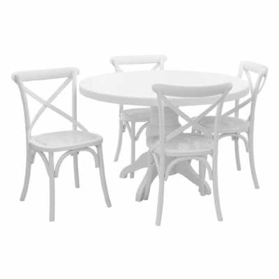 White Wash Vermont 5 Piece Dining Set