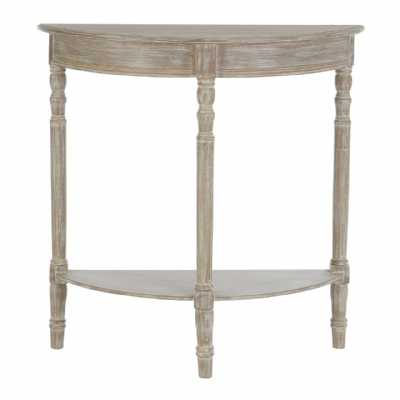 Heritage Winter Melody Half Moon Distressed Console Table