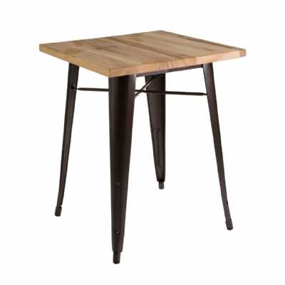 Metal Copper Powder Coated Finish Ash Top Small Aldgate Table