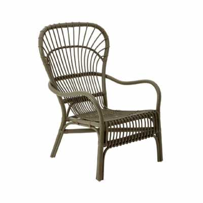 Traditional Designed Grey Rattan Havana Relax Chair