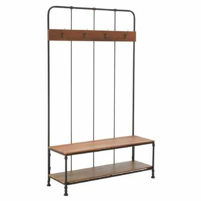 New Foundry Industrial Style Coat Rack with Bench and Shoe Store